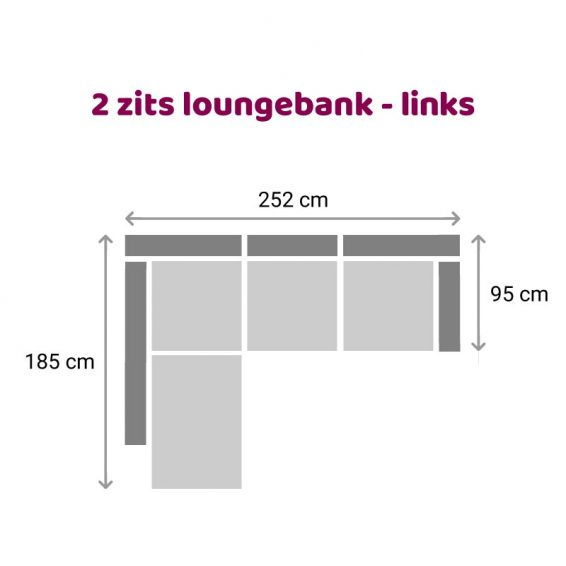 Zitzz Claudia - Maya - Tanita - Loungebank- 2-zits links