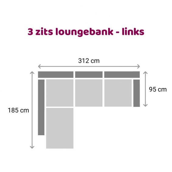 Zitzz Claudia - Maya - Tanita - Loungebank - 3-zits links